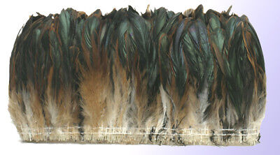 """1/4 lb Half Bronze Rooster Tail Coque Feathers 8-10"""" L"""