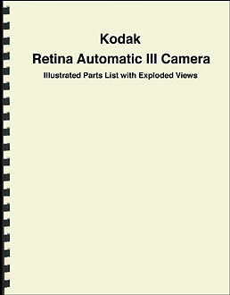Kodak Retina Automatic III Parts List with Exploded Views