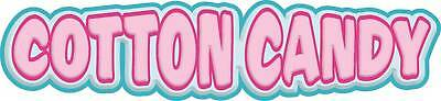 "Cotton Candy Concession Decal 28"" Food Vinyl Letters"