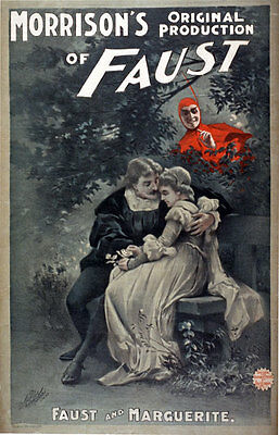 VINTAGE ADVERT THEATRE STAGE PRODUCTION FAUST POSTER ART PRINT BB12970B