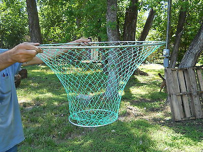 "3 LARGE 32"" Crab Trap Hoop Lobster Pier Dock Net crabbing decor fish nautical"