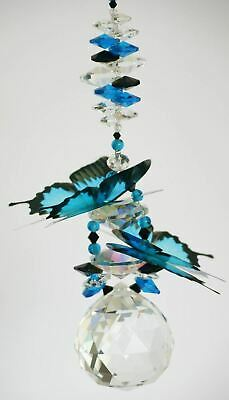 CRYSTAL BALL SUNCATCHER ULYSSES BUTTERFLY gift large hanging prism decoration