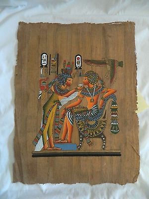 "Egyptian Antique look Papyrus Paper King Tut Queen Nefertari 13"" X 17"""