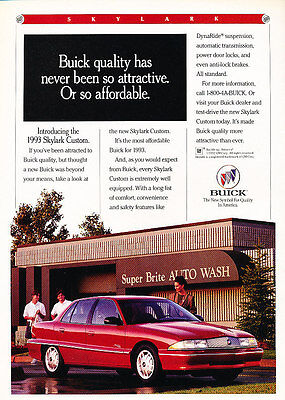 1994 Buick Regal Angle Classic Vintage Advertisement Ad D109