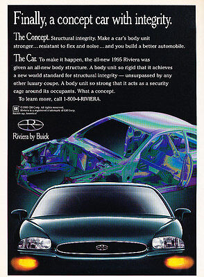 1995 Buick Riviera - concept - Classic Vintage Advertisement Ad D05