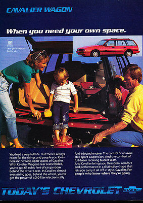 1986 Chevrolet Cavalier - station wagon - Classic Vintage Advertisement Ad D06