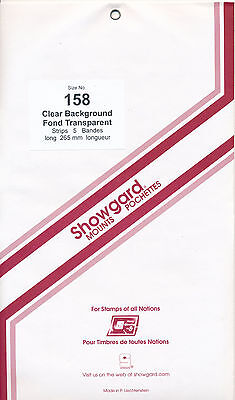 Showgard Stamp Mounts Size 158/264 CLEAR Background Pack of 5