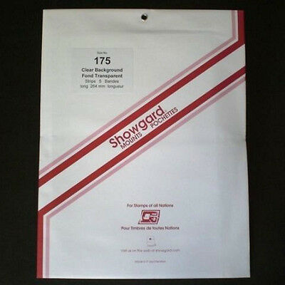 Showgard Stamp Mounts Size 175/264 CLEAR Background Pack of 5