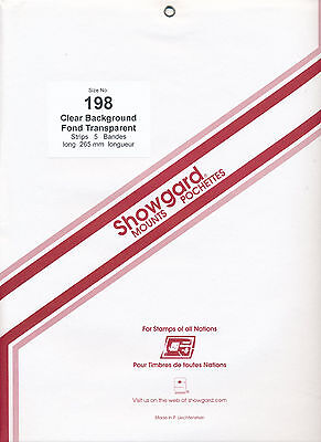 Showgard Stamp Mounts Size 198/264 CLEAR Background Pack of 5