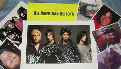 ALL AMERICAN REJECTS Autographed  Photo &Photos/- HOT