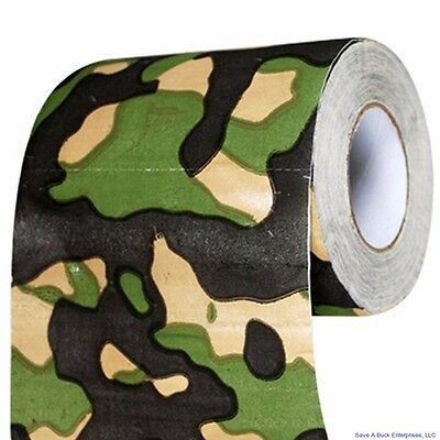 Camouflage Camo Toilet Paper Roll - Gag Joke Party Hunting - Big Mouth Toys