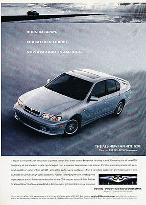 1999 Infiniti G20 G20t -  Classic Vintage Advertisement Ad D08
