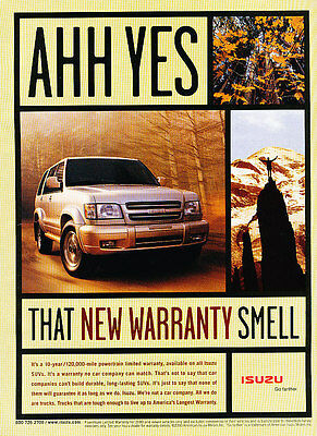 2000 Isuzu Trooper - ahh yes -  Classic Vintage Advertisement Ad D08