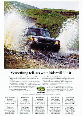 1998 Land Rover Discovery - water -  Classic Vintage Advertisement Ad D14