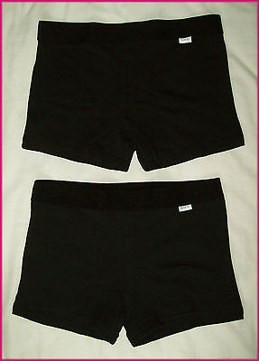 RIO 2 pk BOYLEG SPORTS KNICKERS GIRLS Undies UNDERWEAR Black  Sz 6 8 10 12 14 16