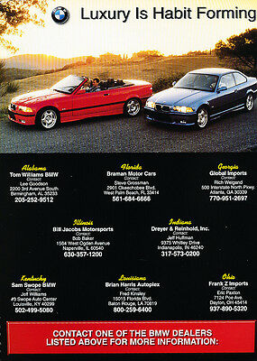 2000 BMW 325i coupe and convertible -  Classic Vintage Advertisement Ad D16