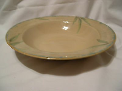PTS International Interiors Soup Cereal coupe BOWL  BAMBOO stoneware