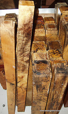 Spalted Tamrind Timber Wood 3x3x12 Lumber For Woodturning Peppermills Pool Cues