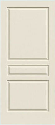 Avalon 3 Panel Primed Molded Solid Core Wood Composite Doors Wood Grain Texture