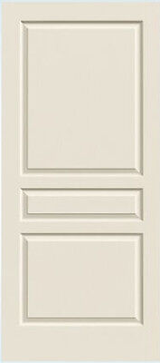 Avalon 3 Panel Primed Molded Solid Core Interior Doors WoodGrain Texture Prehung
