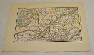 1884 Antique Color Map of PROVINCE OF QUEBEC, CANADA/Rand McNally Dollar Atlas