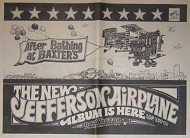 Jefferson Airplane '67 Ron Cobb LP Album Poster Type Ad