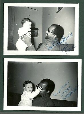 2- Len Chandler signed photos Civil Rights