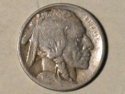 1913 TYPE ONE BUFFALO NICKEL - INDIAN HEAD BISON - OLD US COIN - TY1 1