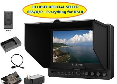 """Lilliput 7"""" 665/O/P Peaking Focus Filter Hdmi in&output Camera-top + Everything"""
