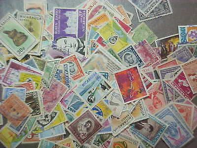 150 Different Nicaragua Stamp Collection / Older - Lot