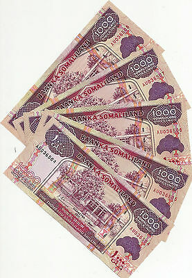 Somaliland 5 Notes1000 Shillings 2011  Uncirculated Notes