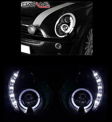 Kit Fari Anteriori Led Angel Eyes Neri Mini One Cooper R50 01>06 Disponibili
