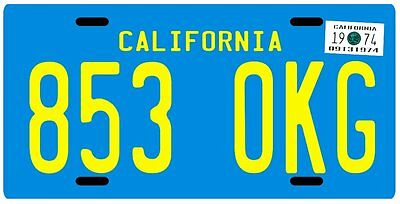 The Rockford Files 1974 James Garner CA License plate