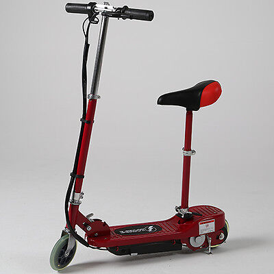 Red Adjustable Kids Electric Scooter Removable Seat Ride On Battery Operated