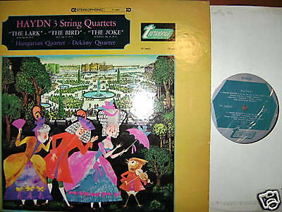Turnabout Haydn 3 String Quartets Hungarian Quartet