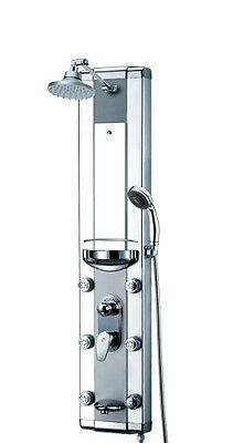 Pressure balance shower panel multi functions & tub faucet tower 51""