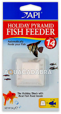 Api 7 Day Pyramid Fish Tank Feeder Food Holiday Week Vacation Food Block