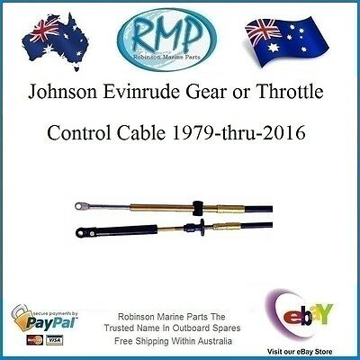 A Brand New Gear/Throttle Cable Johnson-Evinrude 1979-thru-2016 15ft # VP83215