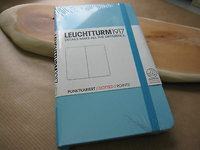 Leuchtturm1917 A6 Pocket Notebook Tiffany Blue Dotted Functional Journal