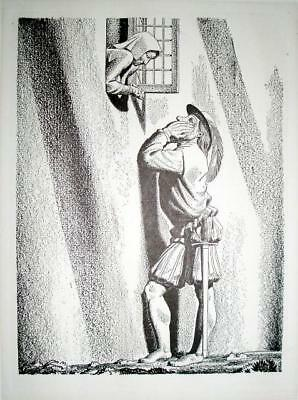 Rockwell Kent, Vintage Print MUCH ADO ABOUT NOTHING, Shakespeare