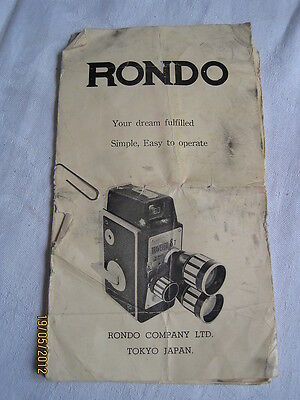 Instructions cine movie camera RONDO traveler 8T