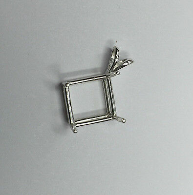 Sterling Silver Octo Square Pendant Casting (6x6 to 11x11mm)