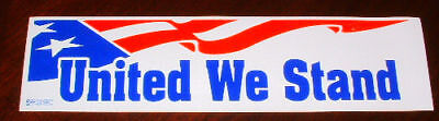 New UNITED WE STAND Patriotic USA *Bumper sticker decal*Support Our Troops*BIG