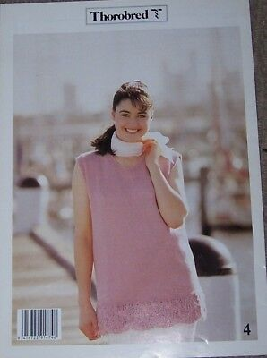 LADIES 8 Ply COTTON SUMMER KNITS- 4 designs by Thorobred