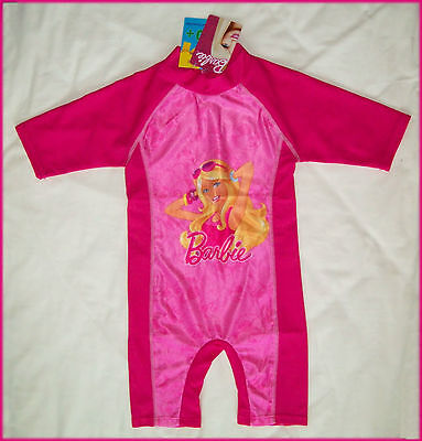 GIRLS BARBIE Rashsuit Sz 2 4 6 8  RASH SUN SUIT  Swimwear BATHERS Rashi Togs NEW