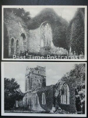 c1906 - 2 x PC - MUCKROSS ABBEY & LADY CHAPEL, Killarney