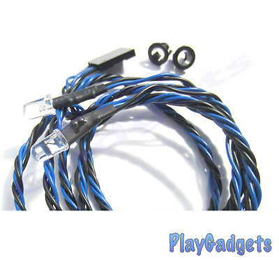5mm LED Lights Blue 1 Pair with 800mm Twisted Wire