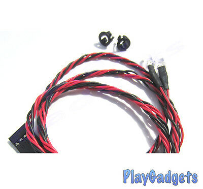 5mm LED Lights Red 1 Pair with 800mm Twisted Wire