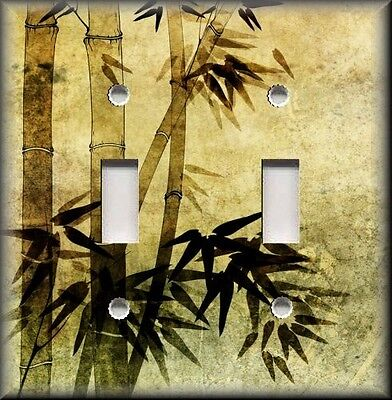 Metal Light Switch Plate Cover - Asian Art Bamboo Stalks Bamboo Home Decor