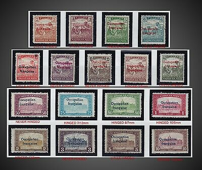 1919 Hungary Arad Issue  - Ocupation Francaise Complete Harvesting & Parliament